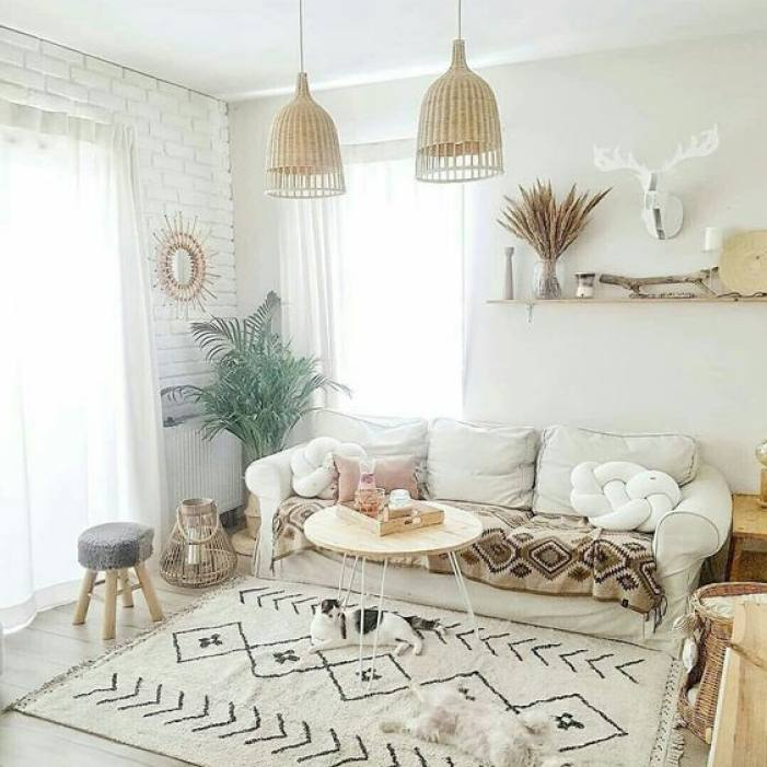 Modern Bohemian Neutral Living room