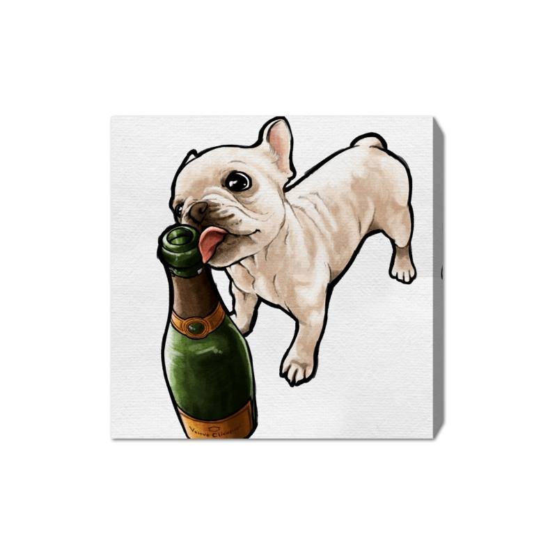 Frenchie & Bubbly Canvas Wall Art
