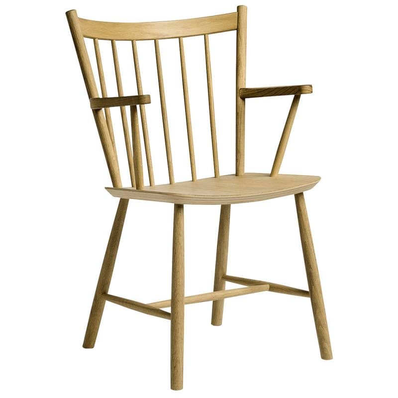 Hay J42 chair, matt lacquered oak