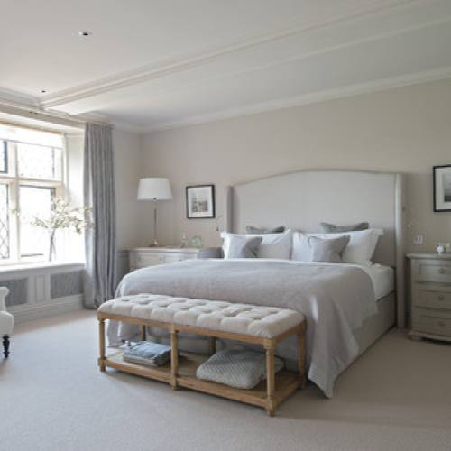 Traditional grey bedroom by Sims Hilditch