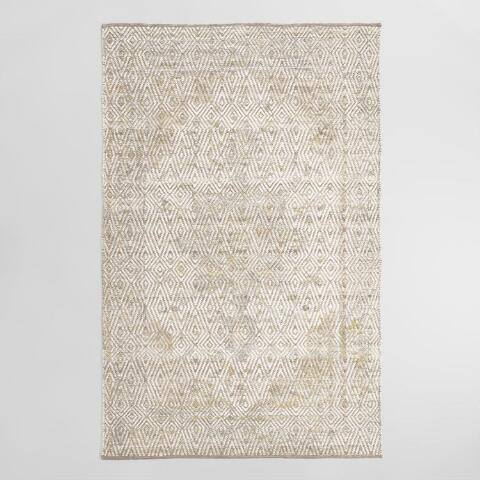 Ivory Medallion Persian Style Aria Area Rug