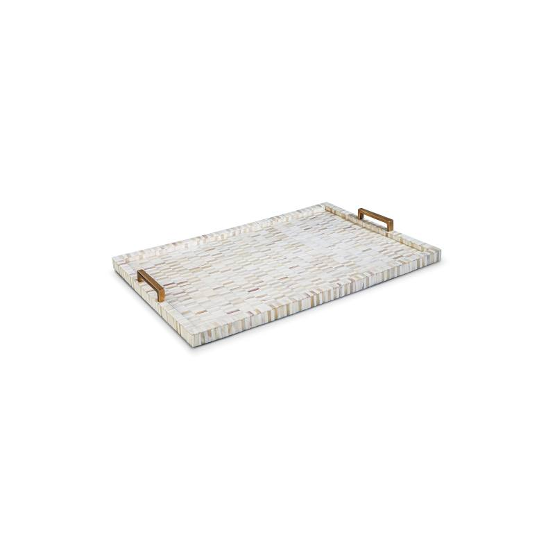 Design Multicolor Bone & Brass Tray