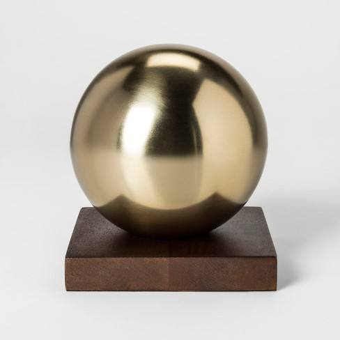 Decorative Ball Sculpture - Gold - Project 62�
