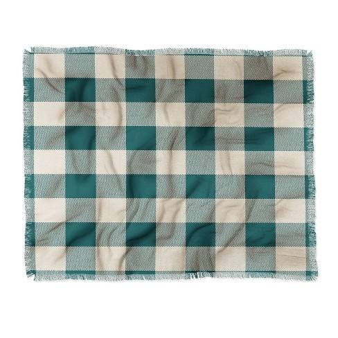 "60""X50"" Zoe Wodarz Cozy Woods Plaid Throw Blanket Green - Deny Designs"