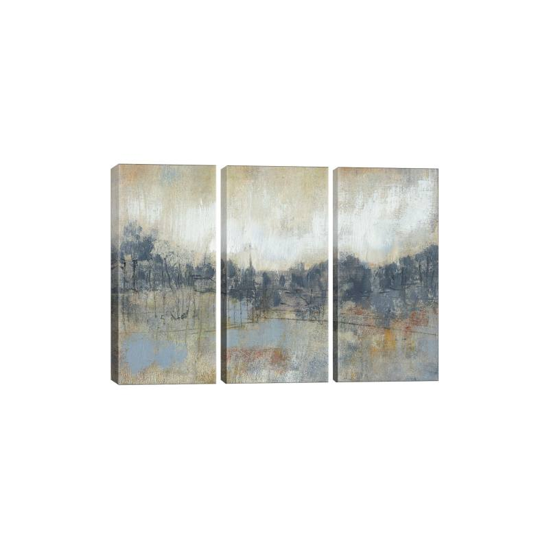 Cool Grey Horizon I Canvas Print Triptych