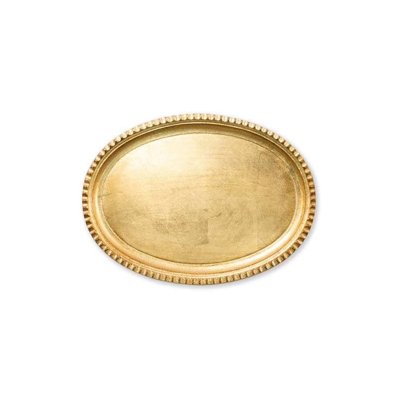Florentine Wood Small Oval Tray