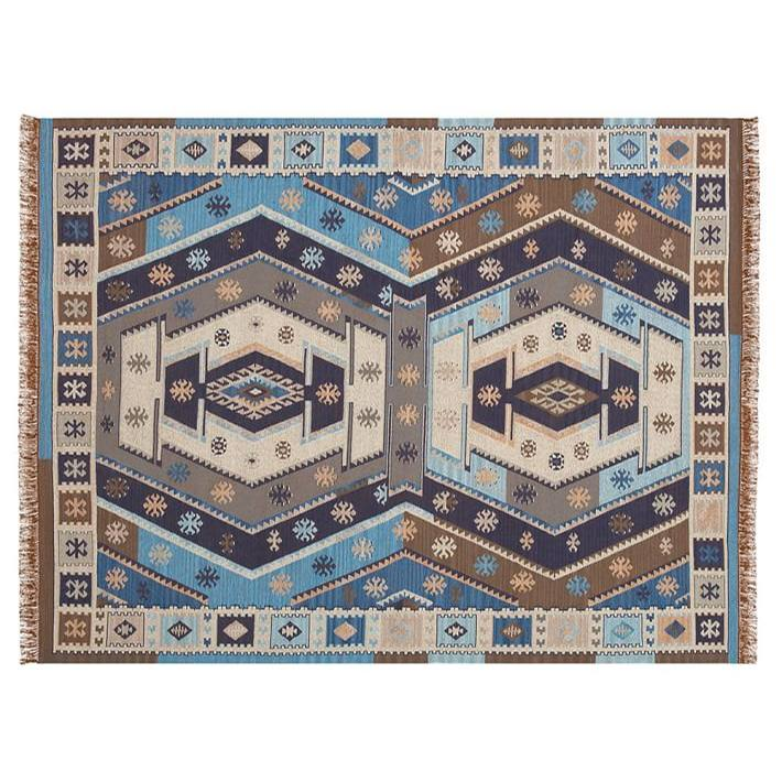 Gianna Recycled Yarn Kilim Indoor/Outdoor Rug - Indigo