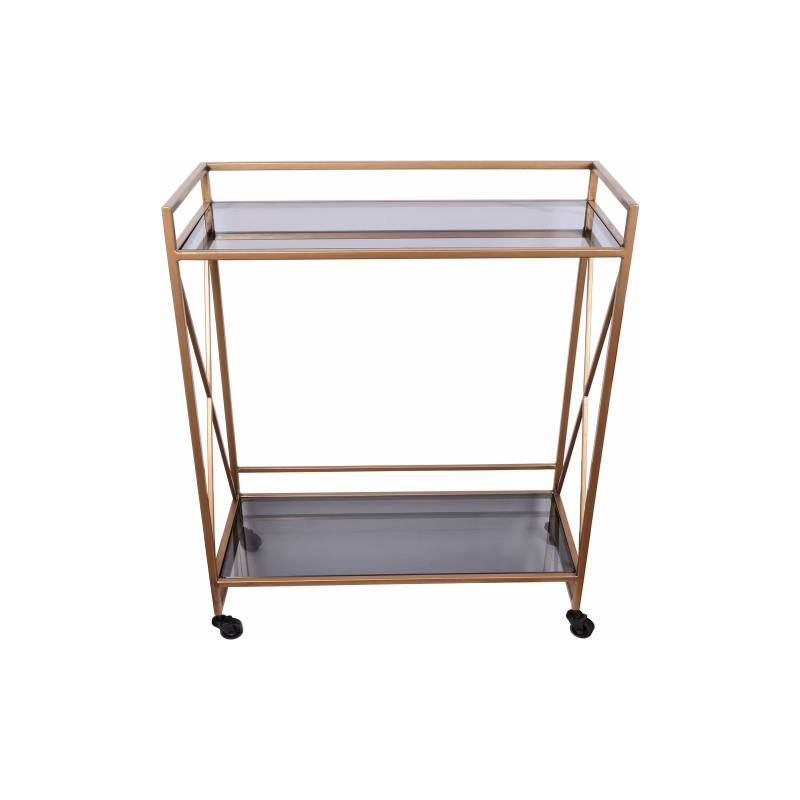 Framed Metal & Glass Serving Cart