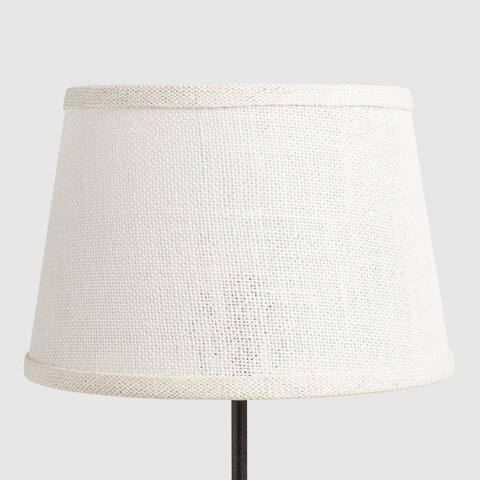 Marshmallow White Burlap Accent Lamp Shade