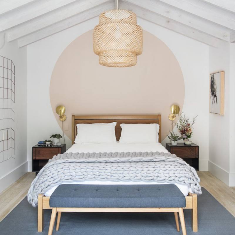 Chic Scandinavian bedroom