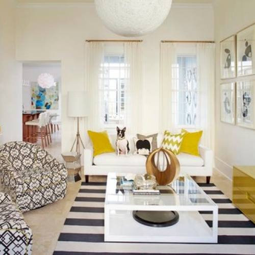 Bright Eclectic living room by Musso Design Group