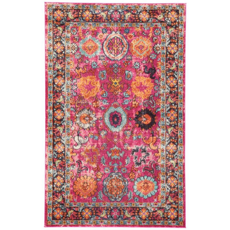 Keziah Rug, Pink and Orange