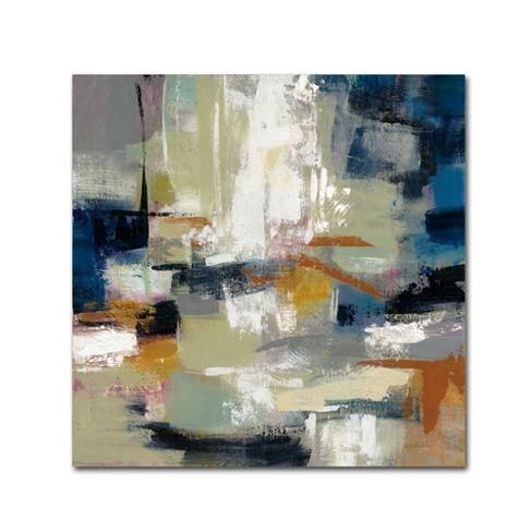 Silvia Vassileva Full Moon II with White Unframed Wall Canvas- Trademark Fine Art
