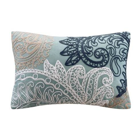 Kiran With Chain Stitch Lumbar Pillow