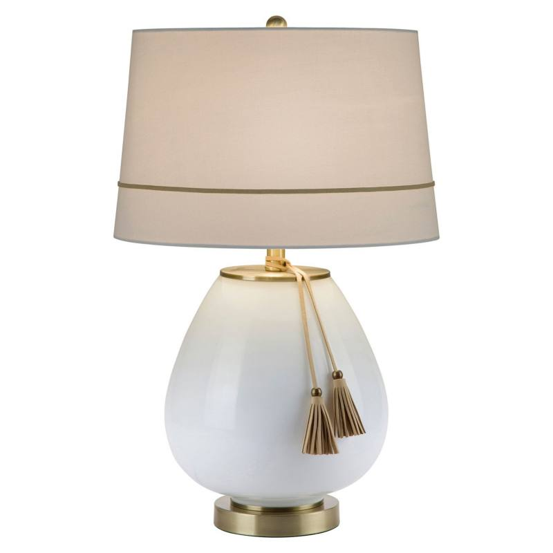 JAlexander 'Opal' Tassel Glass Table Lamp
