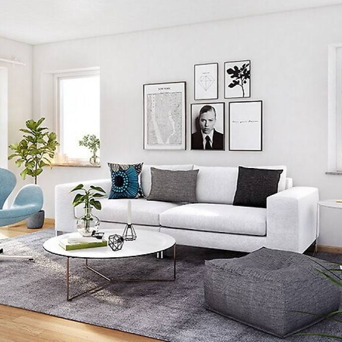 Simple modern apartment living room