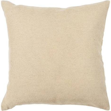 Textured Contemporary Wool Pillow - Beige