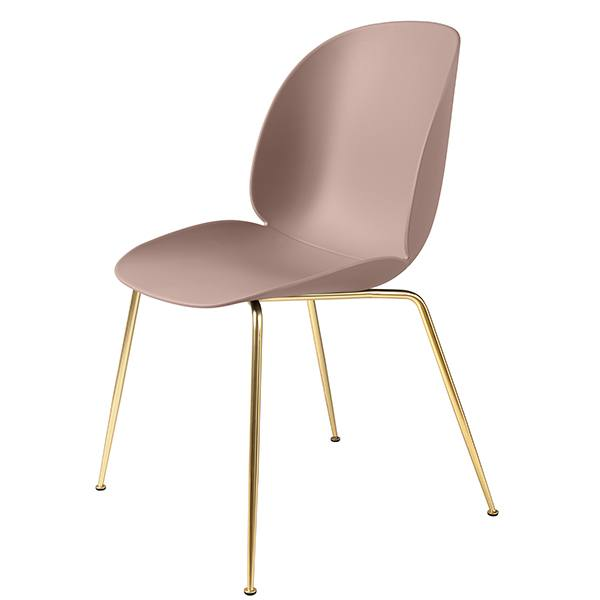 Gubi Beetle chair, brass / sweet pink