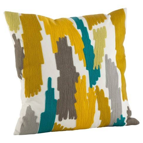 "Brushstroke Design Throw Pillow (20"") - Saro Lifestyle�"