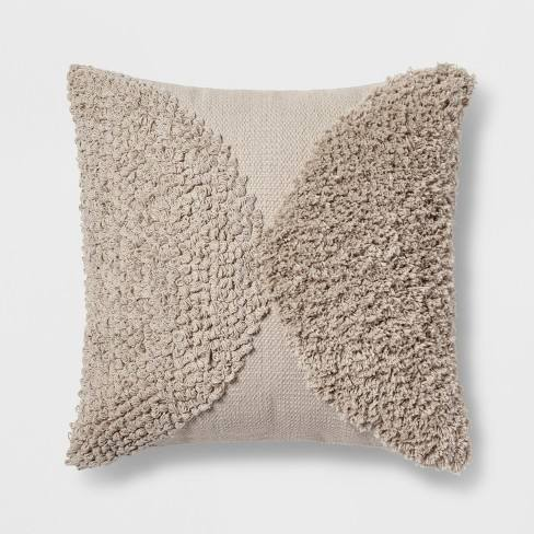 Tufted Half Circle Square Throw Pillow - Project 62�
