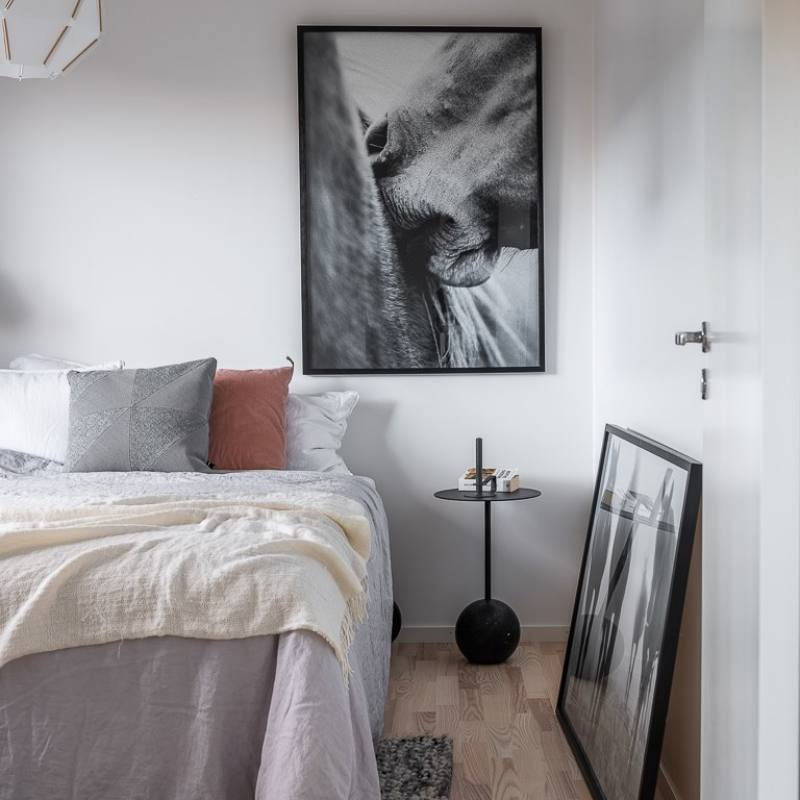 Super modern Scandinavian apartment Bedroom