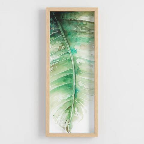 Palm Leaf on Glass Framed Wall Art