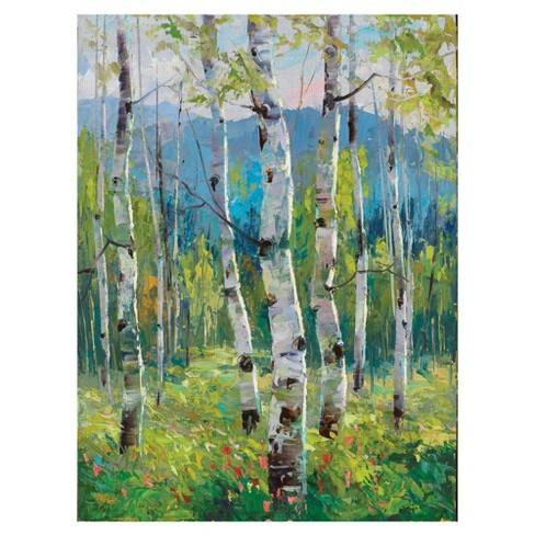 "30""x40"" Spring Greens By Dean Bradshaw Art On Canvas - Fine Art Canvas"