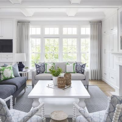 Get the look: Country style white living room