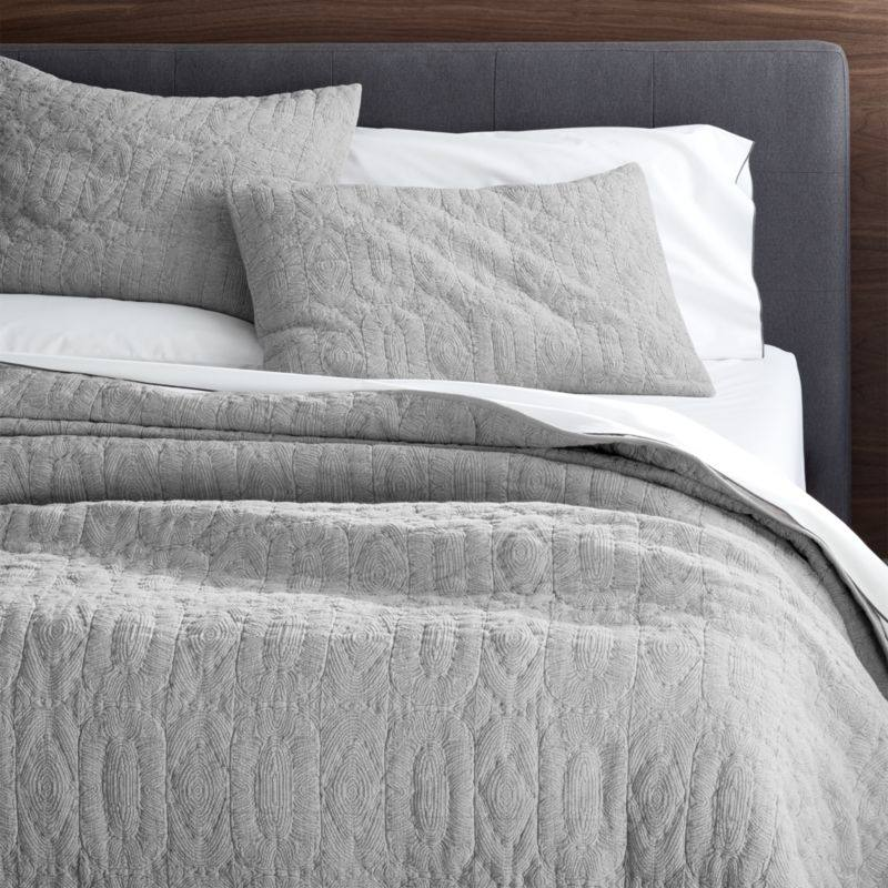 Delano Grey Quilts and Pillow Shams