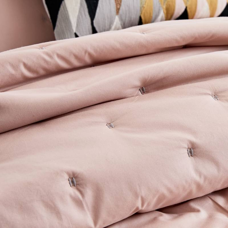 Organic Washed Cotton Quilt + Shams - Pink Blush