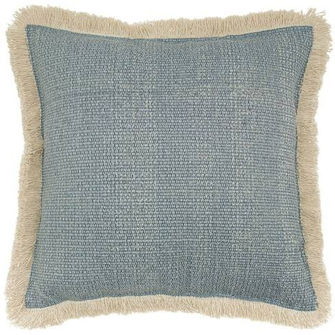 Stonewash Square Throw Pillow Blue - Mina Victory