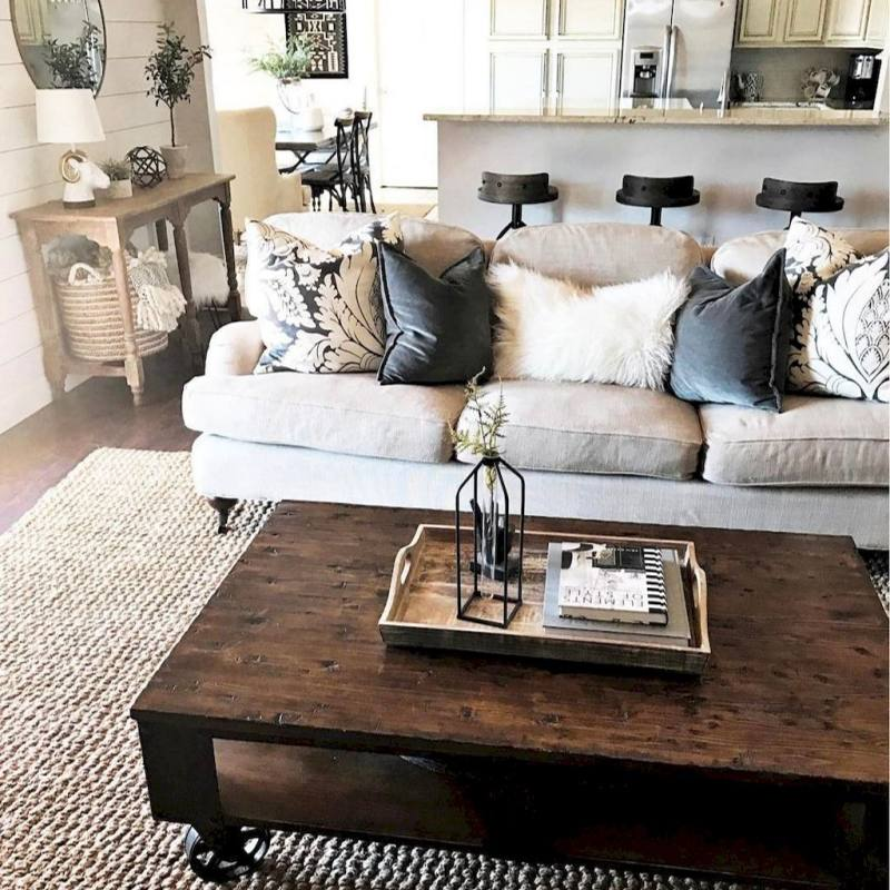 Inspiring Modern Farmhouse Living Room Decor Ideas
