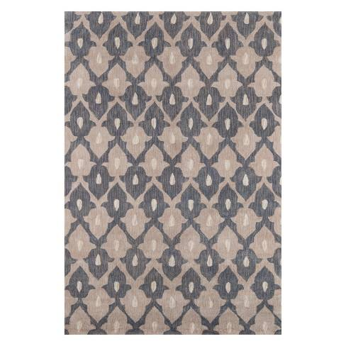 Rio Flint Geometric Tufted Accent Rug - Momeni