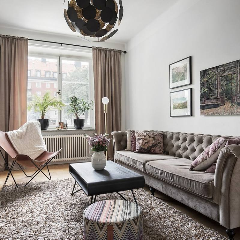 Modern eclectic Nordic living room