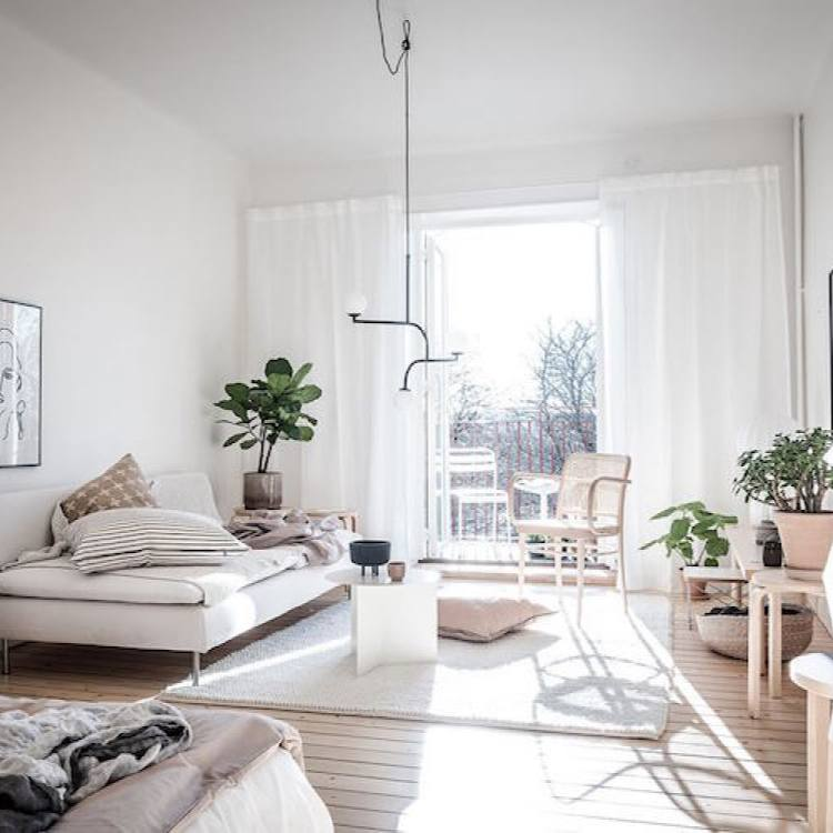 Airy swedish small interior