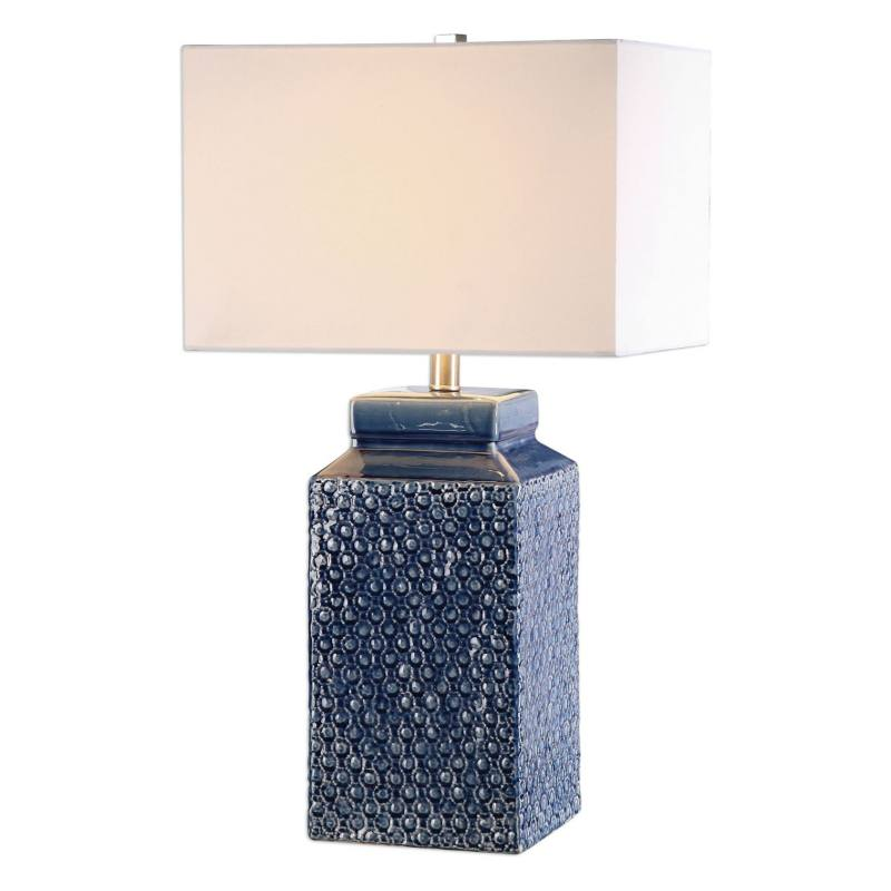 'Sapphire' Glazed Ceramic Table Lamp