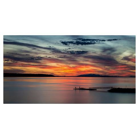 'Sunset Pier' by Pierre Leclerc Ready to Hang Canvas Wall Art