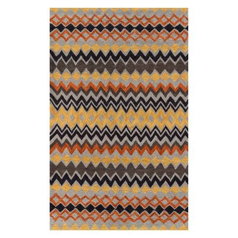 Rio Rochefort Stripe Tufted Accent Rug - Momeni
