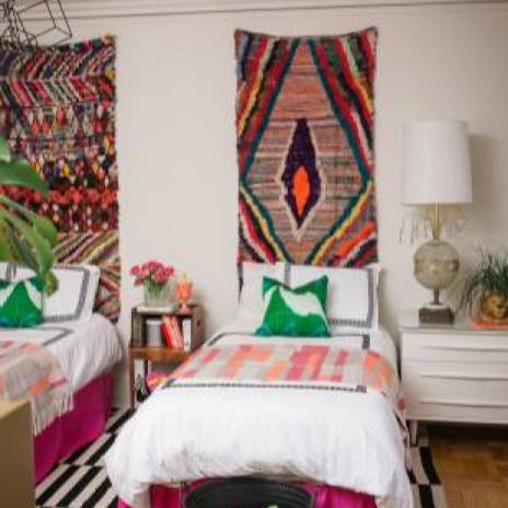 Colorful eclectic boho chic bedroom