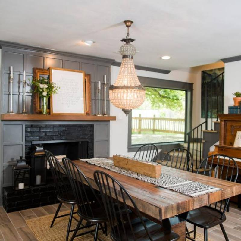 Fixer Upper modern farmhouse dining room