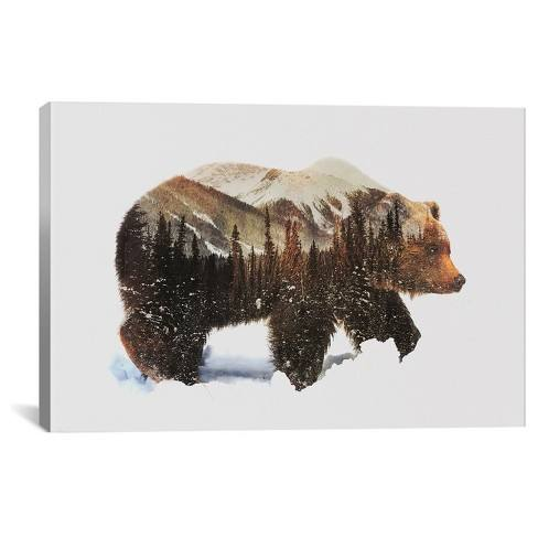 Arctic Grizzly Bear by Andreas Lie Canvas Print