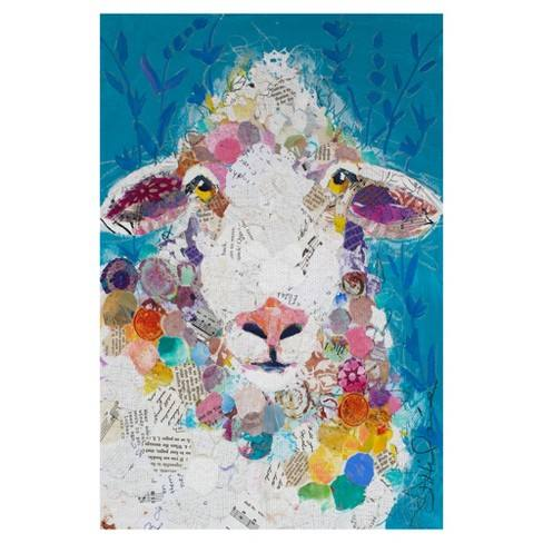"24""x36"" I Love Ewe By Elizabeth St. Hiliaire Art On Canvas - Fine Art Canvas"