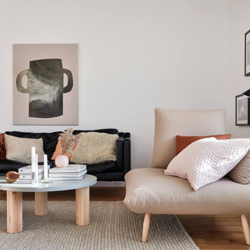 Modern minimalist nordic inspired living room furniture ideas