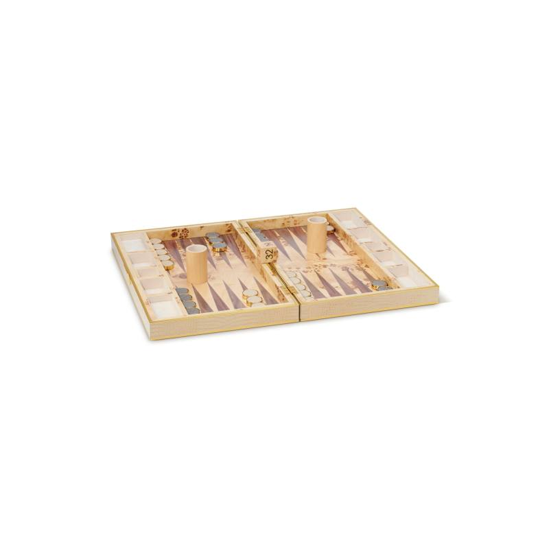 Croc Embossed Backgammon Set